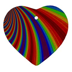 Abstract Pattern Lines Wave Heart Ornament (two Sides)
