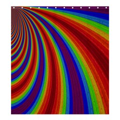 Abstract Pattern Lines Wave Shower Curtain 66  X 72  (large)