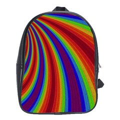 Abstract Pattern Lines Wave School Bag (large)