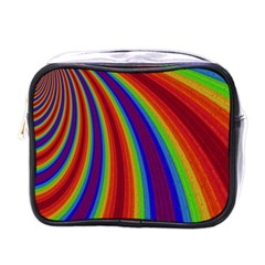 Abstract Pattern Lines Wave Mini Toiletries Bags