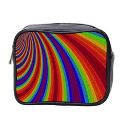 Abstract Pattern Lines Wave Mini Toiletries Bag 2 Side