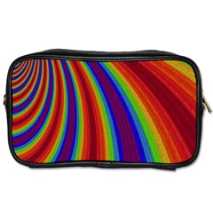 Abstract Pattern Lines Wave Toiletries Bags 2 Side