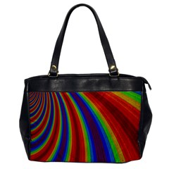 Abstract Pattern Lines Wave Office Handbags