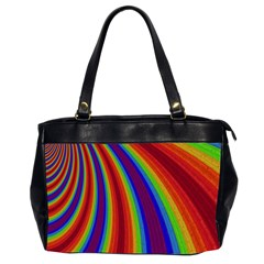 Abstract Pattern Lines Wave Office Handbags (2 Sides)