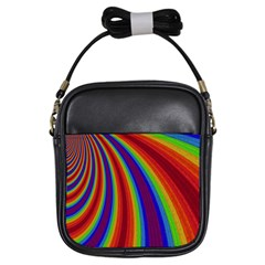Abstract Pattern Lines Wave Girls Sling Bags