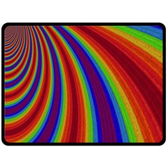 Abstract Pattern Lines Wave Fleece Blanket (large)