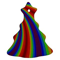 Abstract Pattern Lines Wave Ornament (christmas Tree)