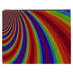 Abstract Pattern Lines Wave Cosmetic Bag (xxxl)