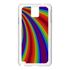 Abstract Pattern Lines Wave Samsung Galaxy Note 3 N9005 Case (white)