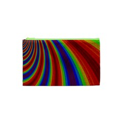 Abstract Pattern Lines Wave Cosmetic Bag (xs)