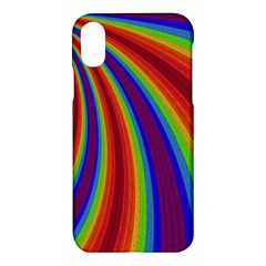 Abstract Pattern Lines Wave Apple Iphone X Hardshell Case