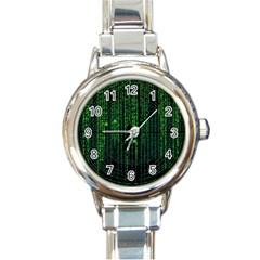 Matrix Communication Software Pc Round Italian Charm Watch