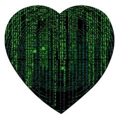 Matrix Communication Software Pc Jigsaw Puzzle (heart)