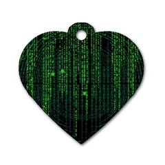 Matrix Communication Software Pc Dog Tag Heart (one Side)