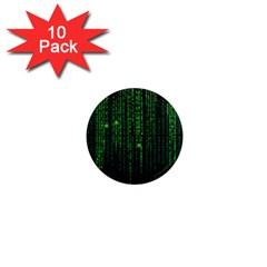 Matrix Communication Software Pc 1  Mini Magnet (10 Pack)