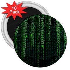 Matrix Communication Software Pc 3  Magnets (10 Pack)