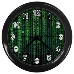 Matrix Communication Software Pc Wall Clocks (black)