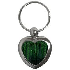 Matrix Communication Software Pc Key Chains (heart)