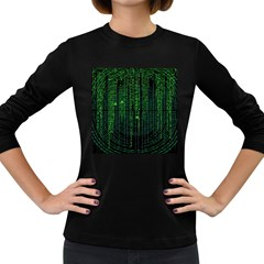 Matrix Communication Software Pc Women s Long Sleeve Dark T Shirts