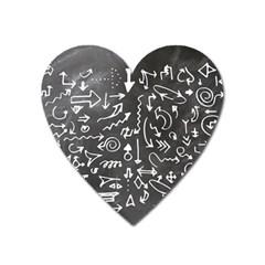 Arrows Board School Blackboard Heart Magnet