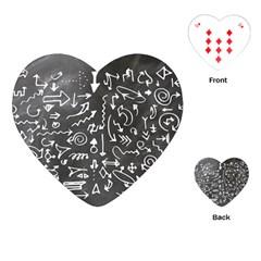 Arrows Board School Blackboard Playing Cards (heart)