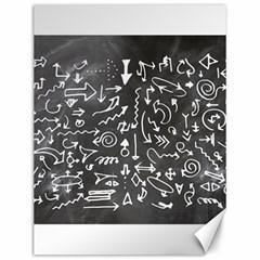 Arrows Board School Blackboard Canvas 12  X 16