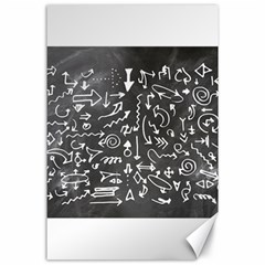 Arrows Board School Blackboard Canvas 24  X 36