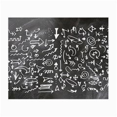 Arrows Board School Blackboard Small Glasses Cloth (2 Side)