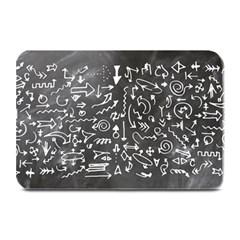 Arrows Board School Blackboard Plate Mats