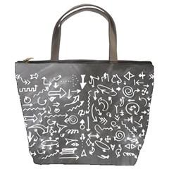 Arrows Board School Blackboard Bucket Bags