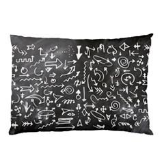 Arrows Board School Blackboard Pillow Case