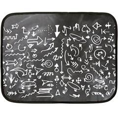 Arrows Board School Blackboard Double Sided Fleece Blanket (mini)