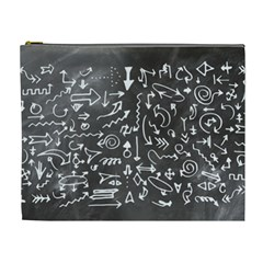 Arrows Board School Blackboard Cosmetic Bag (xl)