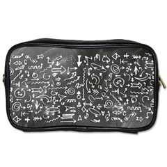 Arrows Board School Blackboard Toiletries Bags
