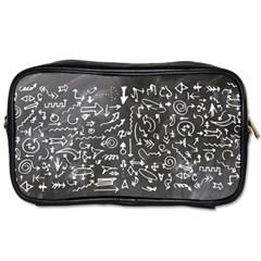 Arrows Board School Blackboard Toiletries Bags 2 Side
