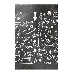 Arrows Board School Blackboard Shower Curtain 48  X 72  (small)
