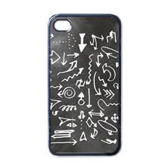 Arrows Board School Blackboard Apple Iphone 4 Case (black)