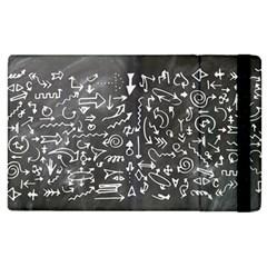 Arrows Board School Blackboard Apple Ipad 3/4 Flip Case
