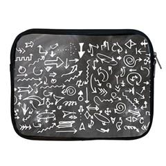 Arrows Board School Blackboard Apple Ipad 2/3/4 Zipper Cases
