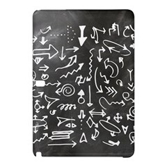 Arrows Board School Blackboard Samsung Galaxy Tab Pro 10 1 Hardshell Case