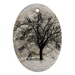 Snow Snowfall New Year S Day Ornament (oval)