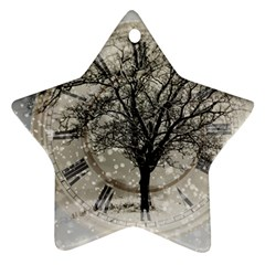 Snow Snowfall New Year S Day Ornament (star)