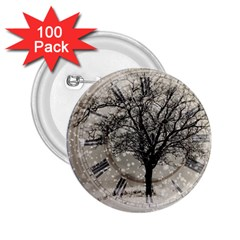 Snow Snowfall New Year S Day 2 25  Buttons (100 Pack)