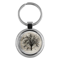 Snow Snowfall New Year S Day Key Chains (round)