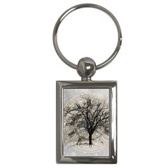 Snow Snowfall New Year S Day Key Chains (rectangle)