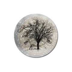 Snow Snowfall New Year S Day Magnet 3  (round)
