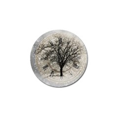 Snow Snowfall New Year S Day Golf Ball Marker (4 Pack)