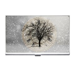 Snow Snowfall New Year S Day Business Card Holders