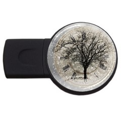 Snow Snowfall New Year S Day Usb Flash Drive Round (2 Gb)