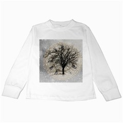 Snow Snowfall New Year S Day Kids Long Sleeve T Shirts